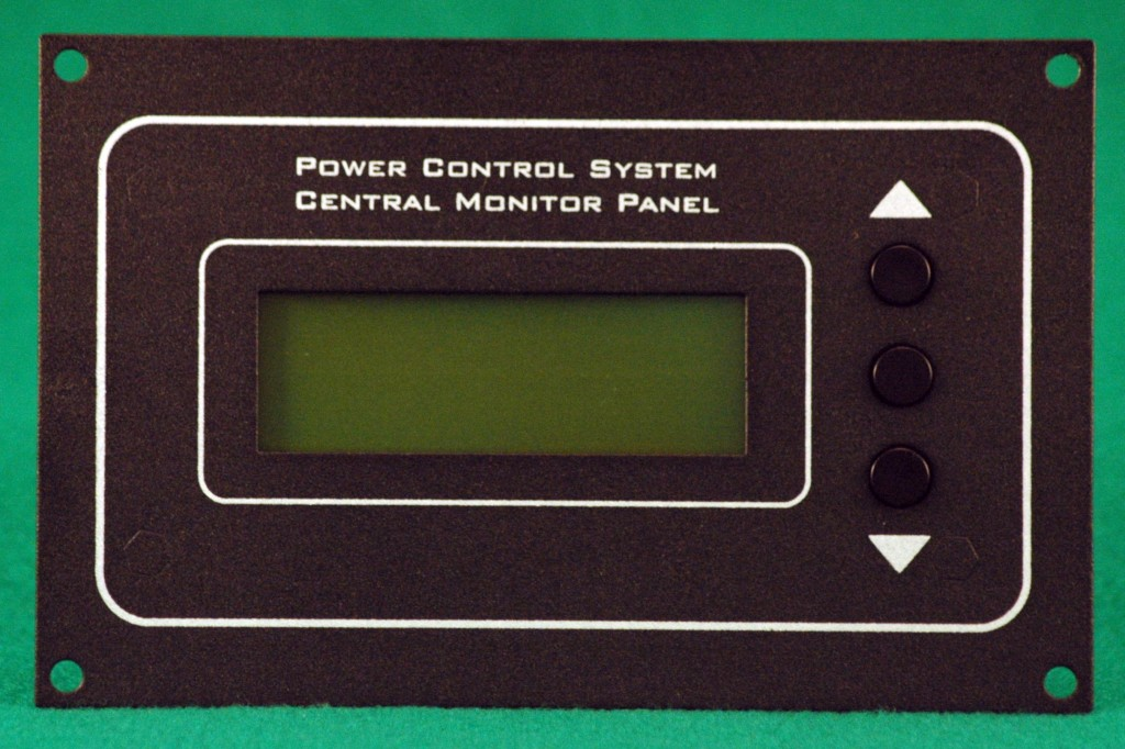 Rv Electrical System Monitor : Power control system central monitor panel remote display